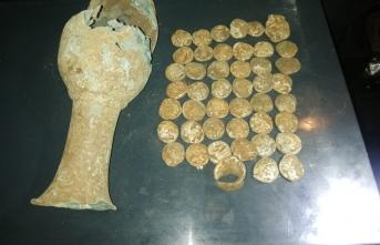 Şanlıurfa'nın Siverek ilçesinde bir küp tarihi sikke bulundu.