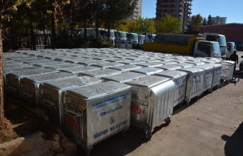 Siverek Belediyesine yeni 439 konteyner hibe edildi