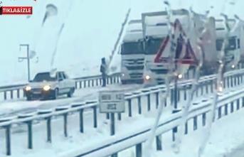 Şanlıurfa-Siverek karayolunda ulaşıma kar engeli