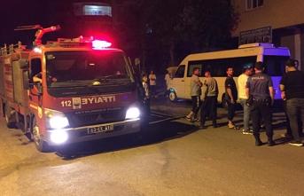 Siverek'te park halindeki minibüsün kundaklandığı iddia edildi