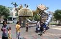 Şanlıurfa'da yapılan sacdan kaydırak çocuklarda...