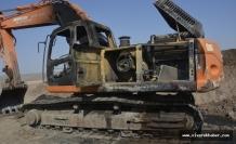 Siverek'te 2 İş Makinası Kundaklandı