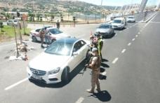 Jandarmadan havadan ve karadan trafik denetimi