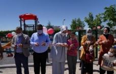 Başkan Ayşe Çakmak özel eğitim öğrencileriyle çocuk oyun parkının açılışını yaptı