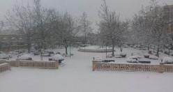 Siverek'te Yoğun Kar Yağışı