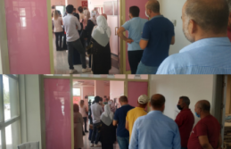 Siverek Devlet Hastanesinde Covid-19 aşı kuyruğu