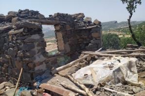 Siverek'te evi yanan yaşlı çift yardım bekliyor