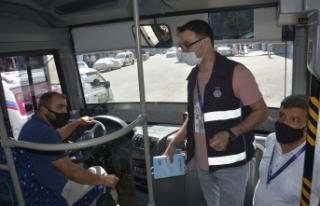 Toplu taşıma araçlarında Koronavirüs denetimleri...