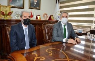 AK Parti Yerel Yönetimlerden Başkan Aydın'a ziyaret