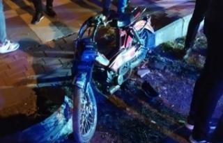 Siverek'te otomobil ve Motosiklet çarpıştı