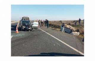 Siverek- Diyarbakır yolunda kaza: 5 yaralı