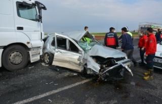 Siverek'te kaza: 1 ölü, 1 yaralı