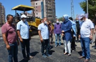 Başkan Ayşe Çakmak asfalt çalışmalarını inceledi!