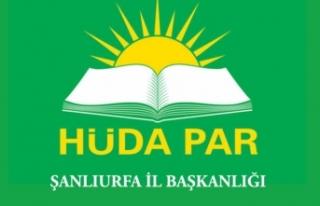 HÜDA PAR Şanlıurfa İl Başkanlığı kentte yaşanan...