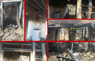 Siverek'te evi yanan Cuma amca yardım bekliyor