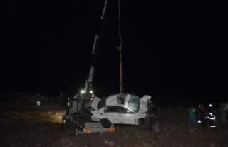 Siverek- Feribot yolunda kaza: 2 ölü 1 yaralı