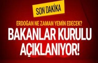 Erdoğan yemin ediyor! Bakanlar Kurulu pazartesi günü...