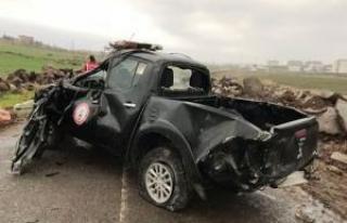 İtfaiye Öncü aracı kaza yaptı: 2 hafif yaralı