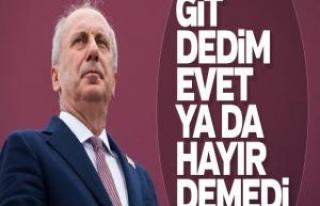 Muharrem İnce, Kılıçdaroğlu'ndan genel başkanlığı...