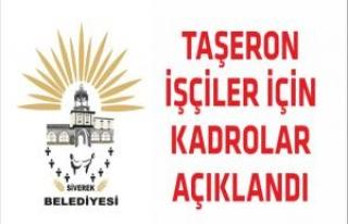 Siverek Belediyesi Taşeron Kadro Başvuruları Açıklandı