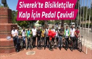Siverek'te Bisikletçiler Kalp İçin Pedal Çevirdi