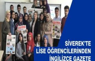 Siverek'te lise öğrencileri İngilizce gazete çıkardı