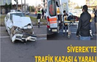 Siverek'te trafik kazası 4 Yaralı