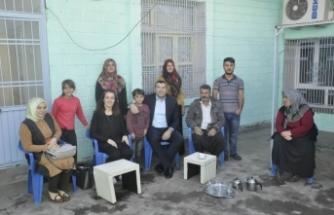 İlçe Kaymakamı Çiftçiler Vatandaşların Evine Konuk Oldu