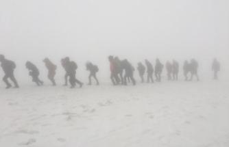 Karacadağ'da Sarıkamış şehitleri için zorlu yürüyüş
