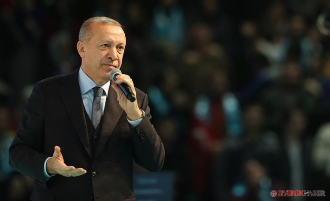 Erdoğan, AKP'nin 11 maddelik seçim manifestosunu açıkladı