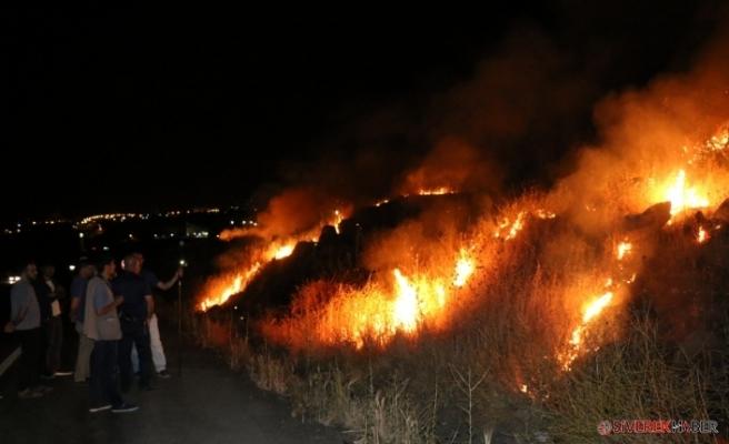 Katı Atık Deposunda Çıkan Yangın Paniğe Neden Oldu