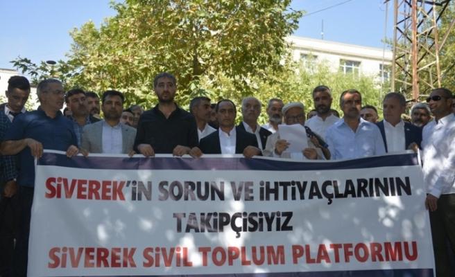 Sivil Toplum Kuruluşlarından Siverek Sorunlarına Ortak Tepki!