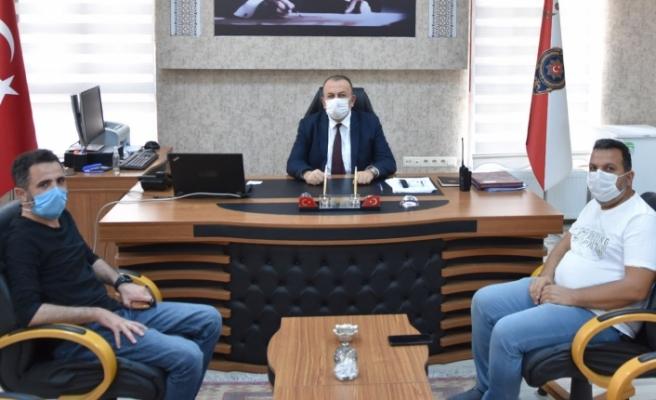 Gazeteciler'den Yeni Göreve Başlayan Emniyet Müdürüne Ziyaret