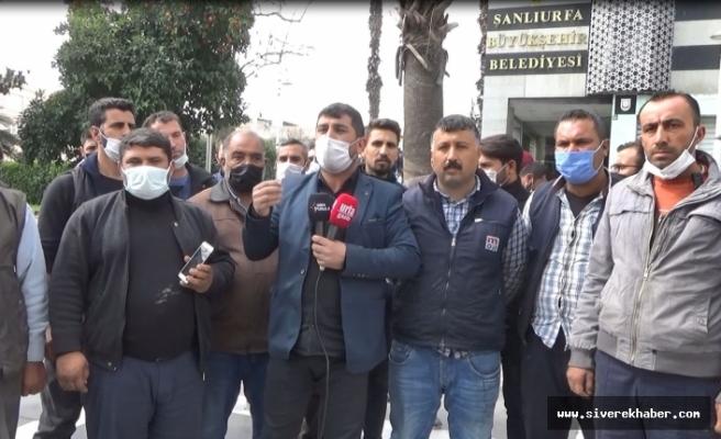 Şanlıurfa Büyükşehir Belediyesi önünde eylem!