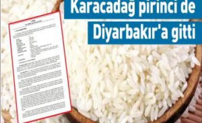 Karacadağ pirinci de Diyarbakır'a gitti