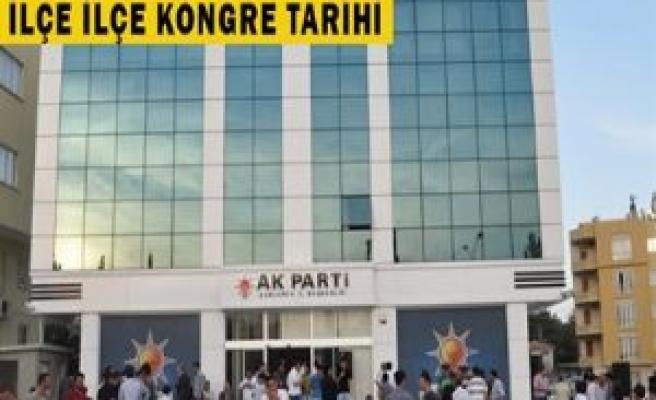 İşte AK partinin ilk yapılacak kongreleri