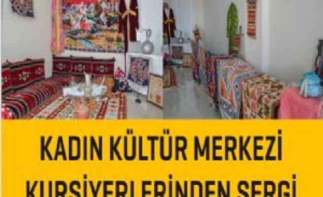 Kadýn Kültür Merkezi kursiyerlerinden sergi