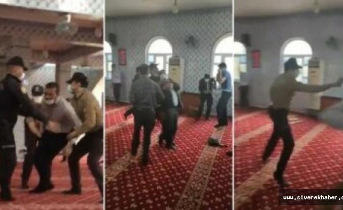 Güvenlik güçlerinden cami içerisinde biber gazlı müdahale
