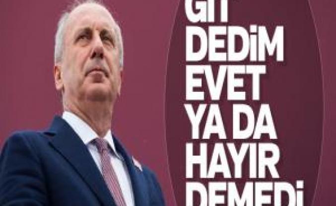 Muharrem İnce, Kılıçdaroğlu'ndan genel başkanlığı istedi