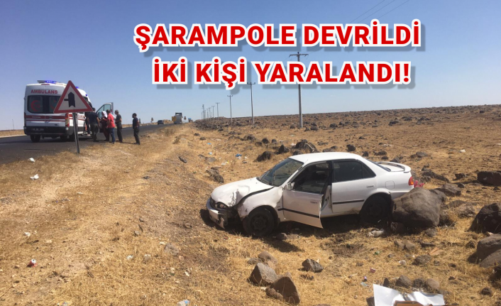 Şarampole devrilen otomobilde iki kişi yaralandı!